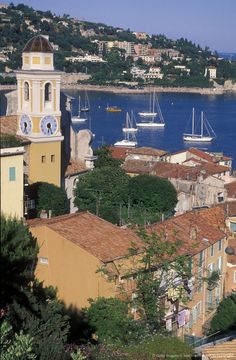 Seaside village of Villefranche, Provence, France