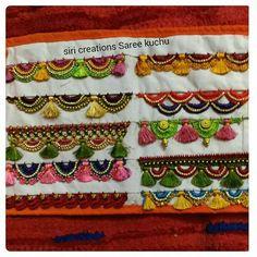 Saree Tassels Designs, Saree Kuchu Designs, Wedding Saree Blouse Designs, Wedding Silk Saree, Aari Embroidery, Hand Embroidery Videos, Hand Embroidery Designs, Kanjivaram Sarees Silk, Hand Work Blouse Design