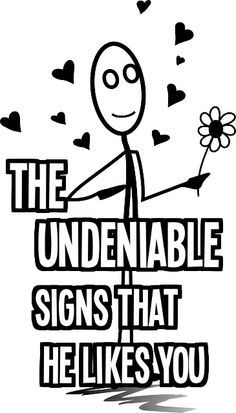 Discover the Undeniable Signs that He Likes You --- Are you curious if you are the apple of his eyes and if he's interested? Women are mystified and guessing what is going on with a man's mind. Knowing what on his mind does not have to be a mystery. You do not have to remain clueless, men exhibits body language and undeniable signs that he likes you.  #dating #attractmen #love