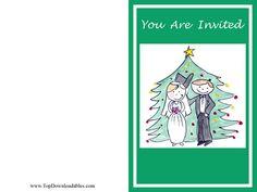 Christmas wedding invitation and free printable kit for theme  #wedding #Christmas