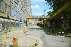 Heygate Estate, Elephant and Castle (due for demolition English Architecture, Concrete Architecture, Urban Architecture, South London, London City, Abandoned Buildings, Abandoned Places, Council Estate, Elephant And Castle