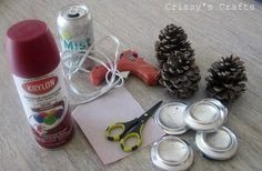 Crissy's Crafts: Pinecone Candle Holder