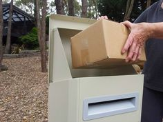 A Secure Drop Box That Allows Homeowners To Receive A Parcel Safely While  Theyu0027re Away   Gadgets For My Wall   Pinterest   Box, Mail Boxes And Porch.