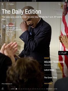 Holder to resign, an SNL history and the best photos of the week. Check out today's edition: flip.it/dailyedition