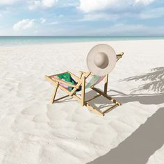 Watercolour Summer Beach Iii Patio Sling Chair by Nadja - One Size