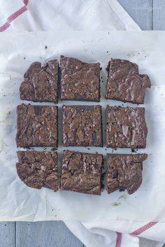 One Bowl Brownies wi