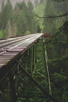 Rail Trestle, Washington photo via sheryl.