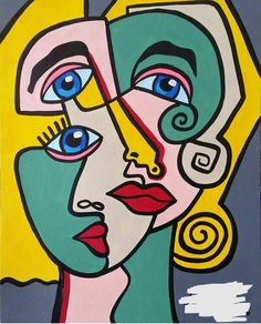 Art Picasso, Picasso Paintings, Pablo Picasso, Art Journal Inspiration, Art Inspo, Famous Artists Paintings, Cubist Art, 8th Grade Art, Abstract Face Art