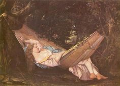 The Hammock, 1844  Gustave Courbet