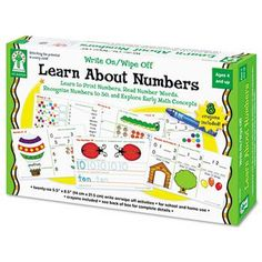 Write-On/Wipe-Off Learn About Numbers Activity Set Ages 4 and Up #Glimpse_by_TheFind