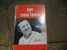 Vintage Book Son of Tiger Trivia Tiger by vintageinmichigan