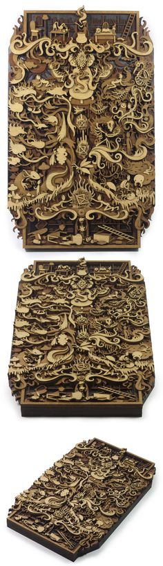 Layered, laser cut, plywood illustration, the approximate size is 240mm by 395mm and 30mm deep. The Separation depicts a story that was divinated using the I-Ching, a technique inspired by the Phil...