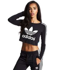 adidas Originals Paris Longsleeve Crop T-Shirt | JD Sports