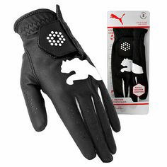 Puma All Weather Golf Glove Synthetic Leather Left (Right-Handed) Black ML $12