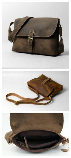 Handmade Leather messenger bag, leather shoulder bag, leather briefcase(PSS102) - Thumbnail 4