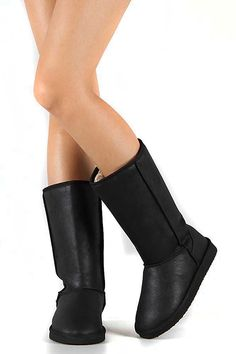 Oakley-144 Round Toe Vegan Shearling Mid Calf Boot Black Fourever Funky * Special boots just for you. See it now! : Boots Mid Calf