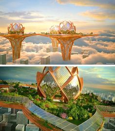 Futuristic Architecture Discover 20 Stunning Futuristic Skyscraper Concepts You Must See - Hongkiat The future looks bleak. As the human population rises more and more cities are becoming congested. We are running out of room for development. Architecture Unique, Plans Architecture, Architecture Logo, Minimalist Architecture, Futuristic Architecture, Concept Architecture, Sustainable Architecture, Residential Architecture, Masterplan Architecture