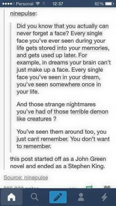 yeah your brain can theow some monsters u saw on tv or whtever in a bowl to make a nightmare though