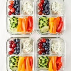 Eat the rainbow with these Herbed Goat Cheese Rainbow Snack Boxes - the perfect meal prep snack idea! Swap in your favorite fruits and veggies to customize! Make this simple snack when you meal prep for the week. Perfect for meal prep beginners. Veggie Snacks, Fruit Snacks, Lunch Snacks, Savory Snacks, Clean Eating Snacks, Eating Healthy, Healthy Recipes, Healthy Meal Prep, Healthy Snacks