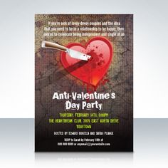 anti valentines day party ideas