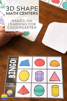 This printable BINGO game with colourful, clean images of and shapes is sure to be a hit with any class! Perfect for learning to recognize the different shapes and their names Hands On Activities, Math Activities, Printable Bingo Games, Shape Names, 2d And 3d Shapes, Math Games, Math Centers, School Ideas, School Projects
