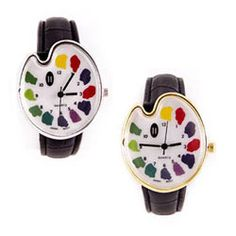 Artist palette watch with silver or gold finish. One of our many gifts for artists and art lovers at ArtistGifts.com