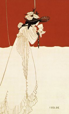 Isolde drinking the poison - by Aubrey Vincent Beardsley (21 August 1872 – 16 March 1898)