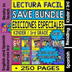 Ready to Teach English and Spanish  from  Easy Reading For Reading Comprehension…