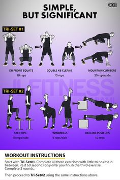 The pattern is a dumbbell exercise -> kettlebell exercise -> bodyweight exercise Hiit Workouts For Men, Cardio Workout At Home, Gym Workout Tips, Dumbbell Workout, Outdoor Workouts, Workout Challenge, At Home Workouts, Circuit Workouts, Conditioning Workouts