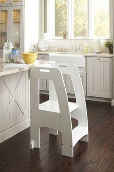 Guidecraft Kids Kitchen Helper Safety Tower Step Stool