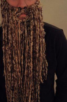 how to make an easy yarn beard
