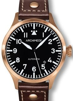 ARCHIMEDE pilot 42 bronze automatic 10