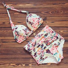 11.76$  Buy now - http://ali5cb.shopchina.info/go.php?t=32796264179 - Swimwear Women Bikinis 2017 High Waist Swimwear Sexy Women Swimsuit Retro Push Up Bikini Set Beach Bathing Suit Swim 3XL Biquini 11.76$ #aliexpresschina