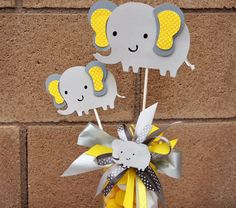 This Pink And Gray Elephant Centerpiece Would Make The Perfect Baby Shower Decoration Does Not Include Container Ing Includes