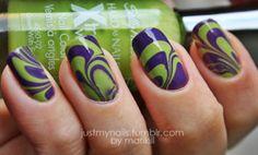 I love green & purple