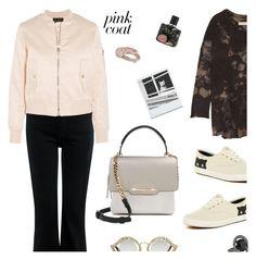 """Pretty Pink Coats"" by annbaker ❤ liked on Polyvore featuring M.i.h Jeans, Oscar de la Renta, Raquel Allegra, Nest, Lola Rose, Maje, Jennifer Lopez, Holga, Gucci and Keds"