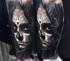 Realistic Muerte Tattoo by A.d. Pancho | Tattoo No. 13997