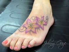 foot lily tattoo