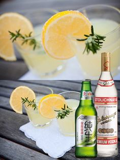 Haven't come to terms with Tsingtao yet? Perhaps you can enjoy it in a cocktail! Here's a suggestion:  Spiked Lemonade 1 cup lemonade, plus extra 1 bottle light-flavored beer (ex. Tsingtao Draft) available at m1ntcellars.com 1 ½ ounces vodka (ex. Stolichnaya Premium Vodka) available at m1ntcellars.com Lemon slice for garnish  Combine ice and lemonade in a pint glass. Slowly pour beer into glass. Add vodka and top it off with a splash of lemonade. Stir together. Garnish with a lemon slice.