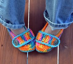 Crochet slippers booties shoes socks with a by ValkinThreads, $23.00