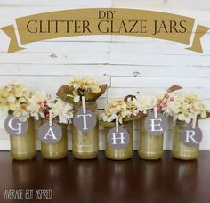 DIY Glitter Glazed Jars - An Upcycle Project