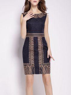 Embroidery Jacquard Cotton-blend Mini Dress