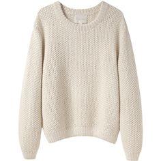 La Garçonne Moderne Sylvia Alpaca Handknit Pullover found on Polyvore