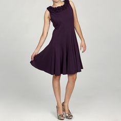 Jessica Howard Women's Petite Ruffled Neck Multi-seamed Pintuck Dress Final Sale (- 4P) S 4 - 6