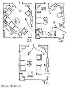 Furniture Layout for Long Living Room. 20 Furniture Layout for Long Living Room. Floorplan Options 3 for Long Narrow Living Room Great Room Layout, Small Living Room Layout, Small Living Room Furniture, My Living Room, Kitchen Living, Corner Fireplace Layout, Corner Fireplaces, Fireplace Furniture Arrangement, Fireplace Ideas