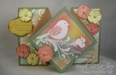 tutorial on how to create this great folding card by maria beatriz