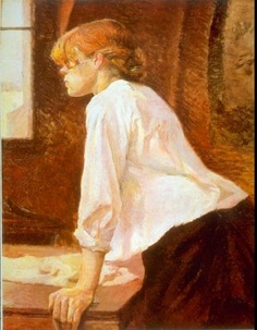 Henri de Toulouse-Lautrec, La Blanchisseuse (The Laundress), Henri De Toulouse Lautrec, Art And Illustration, Poster Prints, Art Prints, Canvas Prints, Edgar Degas, French Artists, Famous Artists, Oeuvre D'art