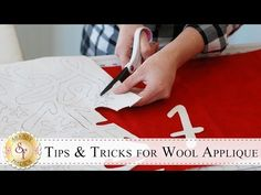 Ellen Murphy of American Homestead shows you how to do the embroidery stitch called the Blanket Stitch for use in wool appliqué. Wool Applique Patterns, Hand Applique, Felt Applique, Applique Quilts, Quilt Tutorials, Sewing Tutorials, Sewing Crafts, Sewing Projects, Video Tutorials