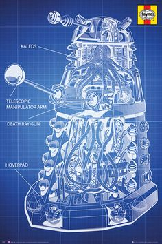 Doctor Who Haynes Dalek Blueprint Poster