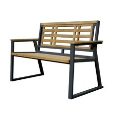 Outdoor Asta Home Furnishings California Room 52 in. Aegean Style Teak/Iron Garden Bench - M2-11B/